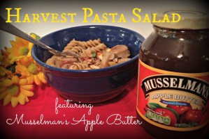 Harvest Pasta Salad featuring Musselman's Apple Butter