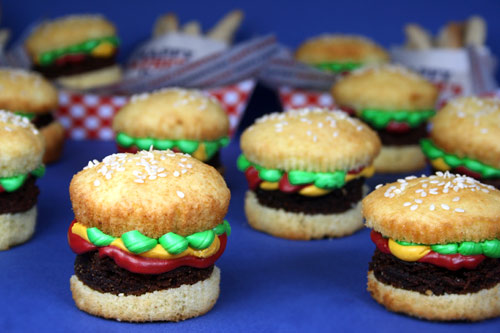Brownie Burger Cupcakes