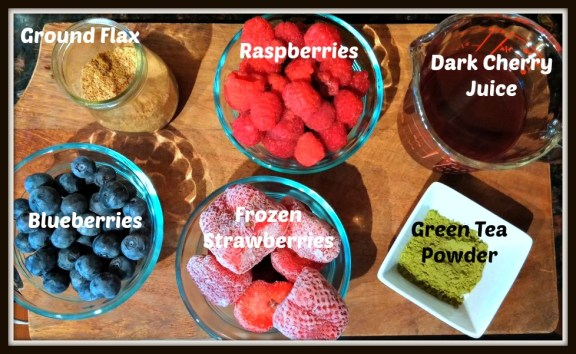 Triple Berry Smoothie Ingredients
