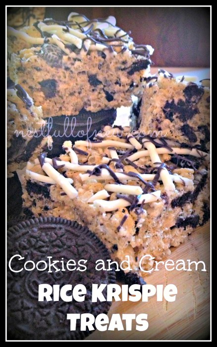 Cookies $ Cream Rice Krispie Treats