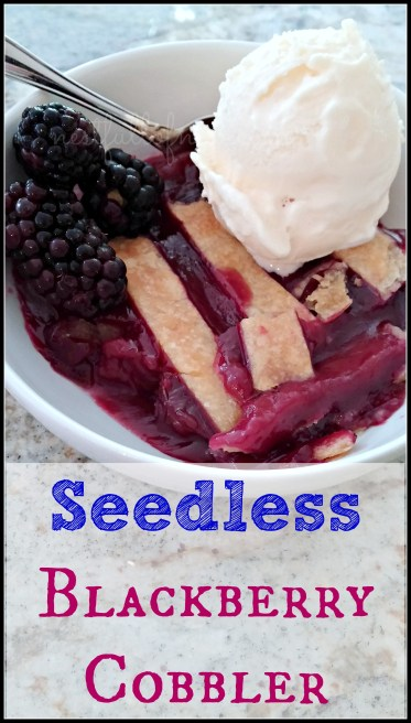 Seedless Blackberry Cobbler