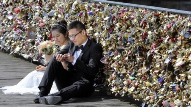 Love Locks Bridge Paris