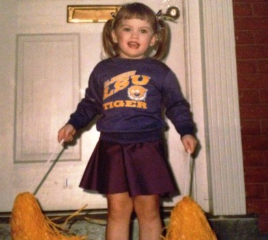 Halloween LSU Cheerleader