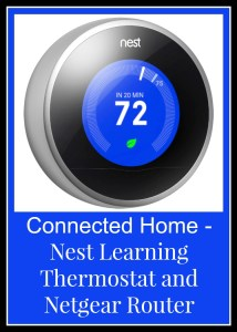 Nest Learning Thermostat and Netgear Router