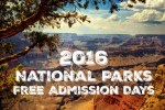 2016 National Parks Free Admission Days