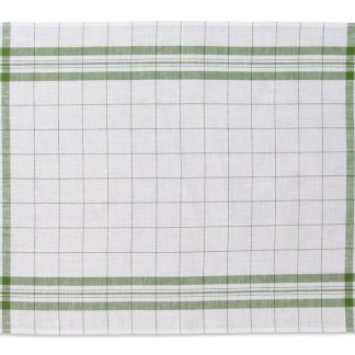 Windowpane Linen Tea Towel green