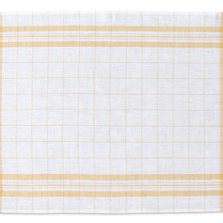 Windowpane Linen Tea Towel yellow