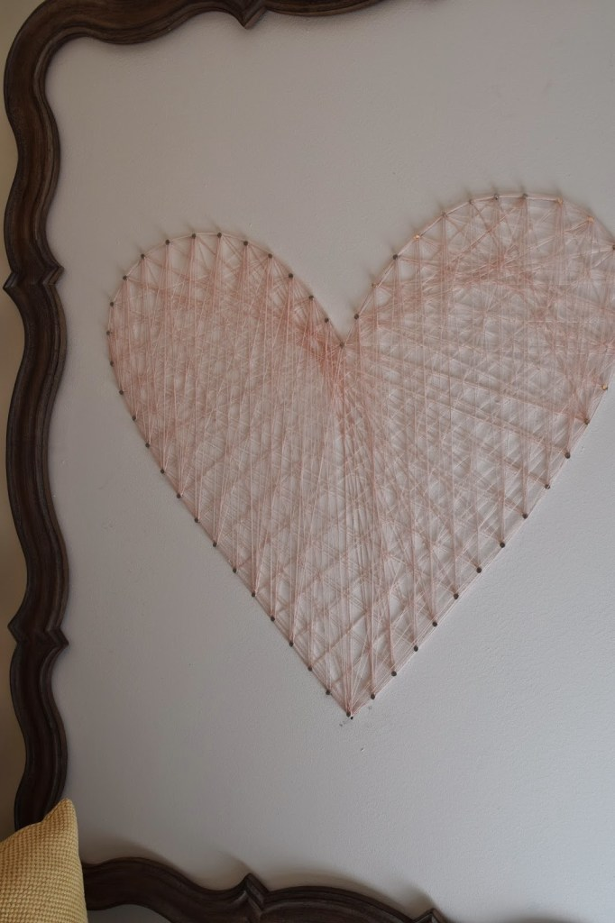 DIY string art heart tutorial