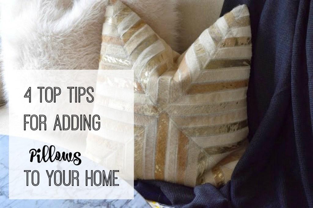 top tips for adding pillows