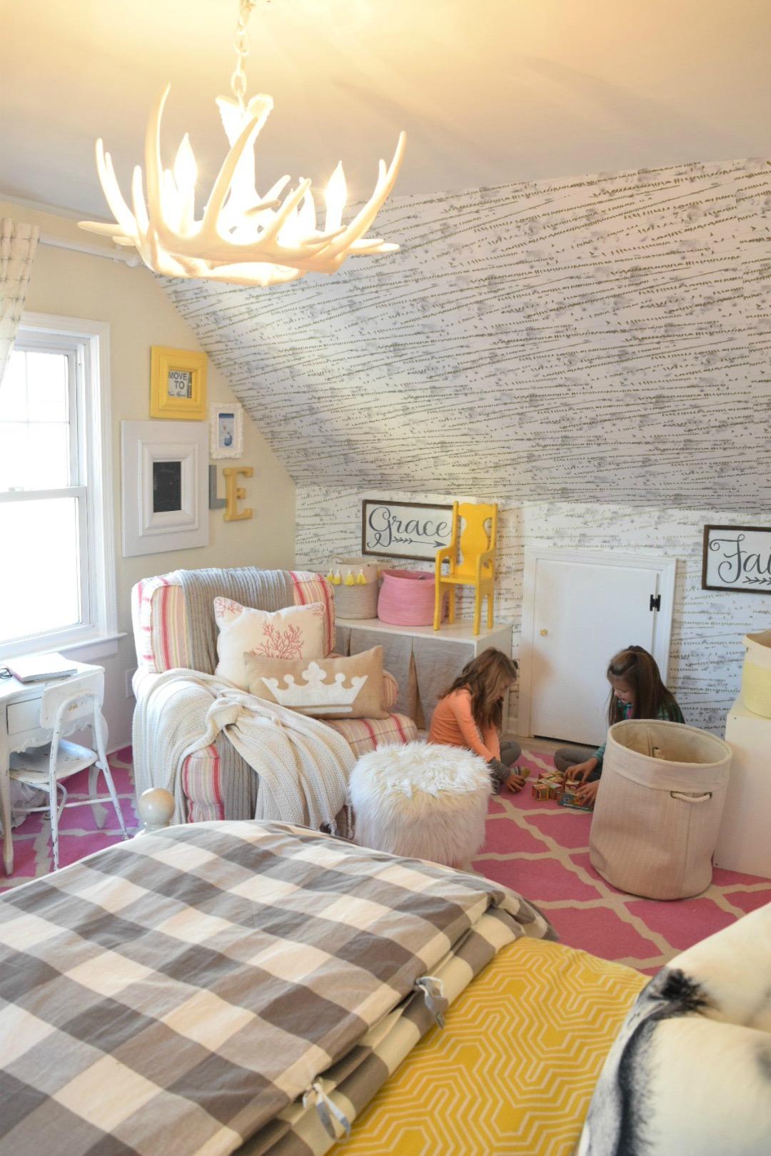 Decor for kids girls bedroom with nesting