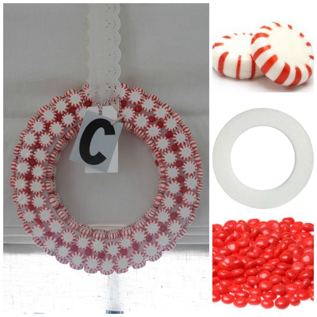 candy christmas wreath