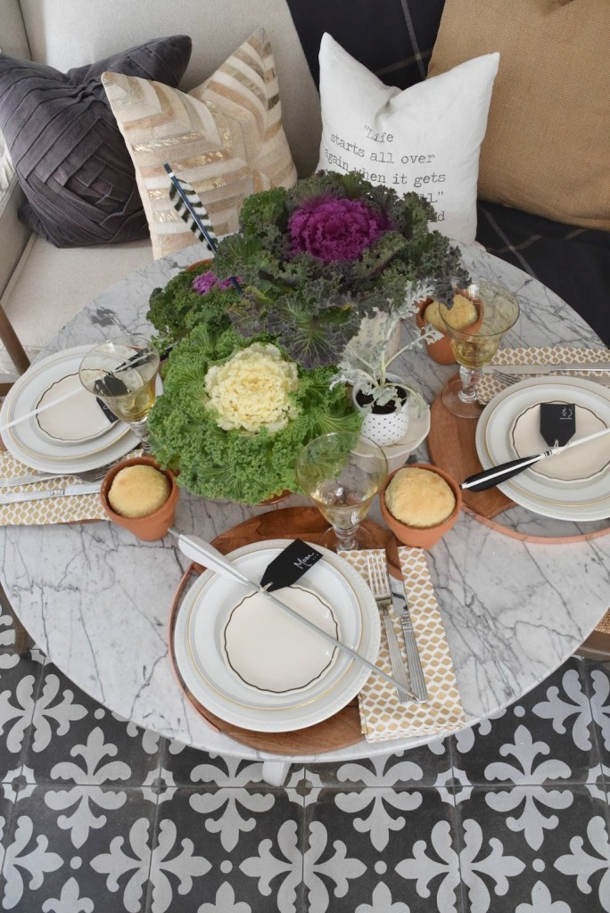 thanksgiving decorations and table setting 1