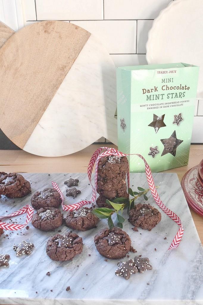 Mint Star Cookies with Trader Joes Mint Stars Recipe 1