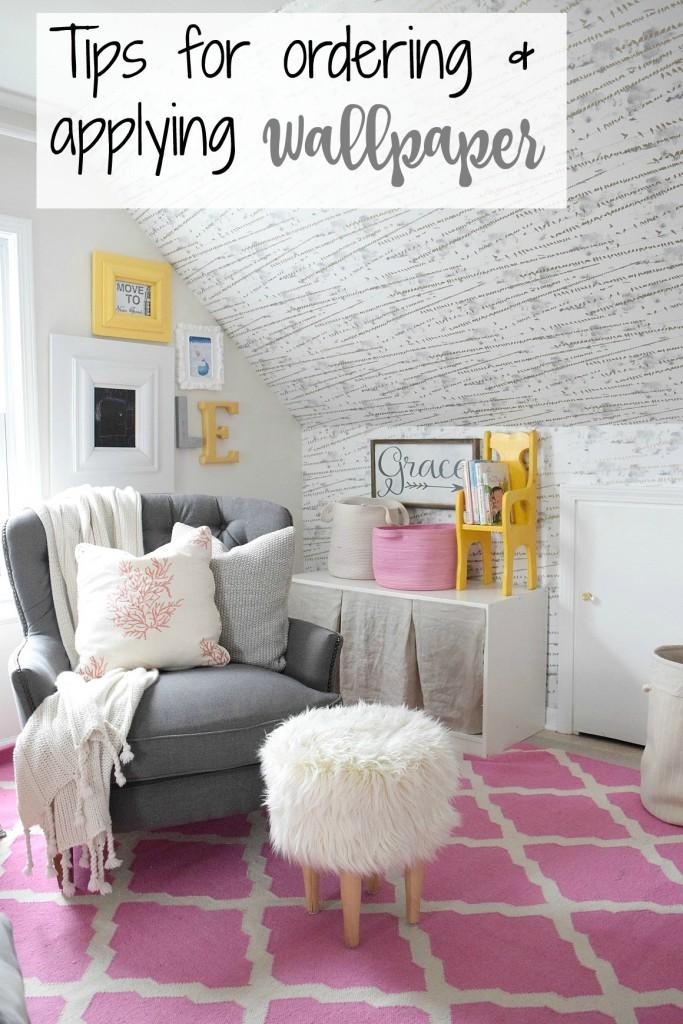 tips on ordering wallpaper