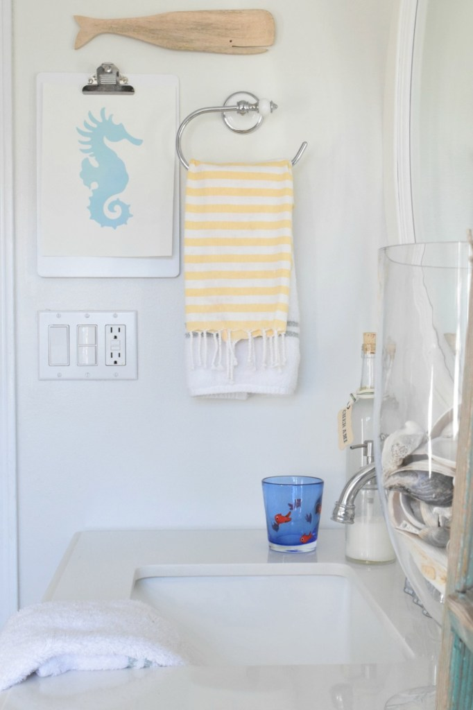 Bathroom remodel before and after nautical