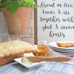homemade bread and mothers day gift