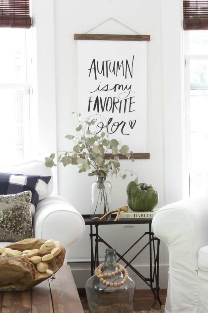 Fall inspiration and fall decor decorating ideas