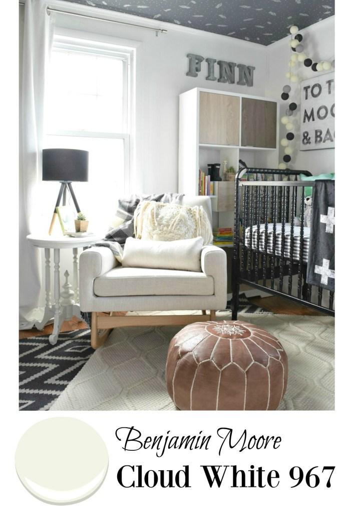 Baby boy nursery Cloud White from Benjamin Moore