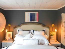 Ceiling Makeover with Wood Planks