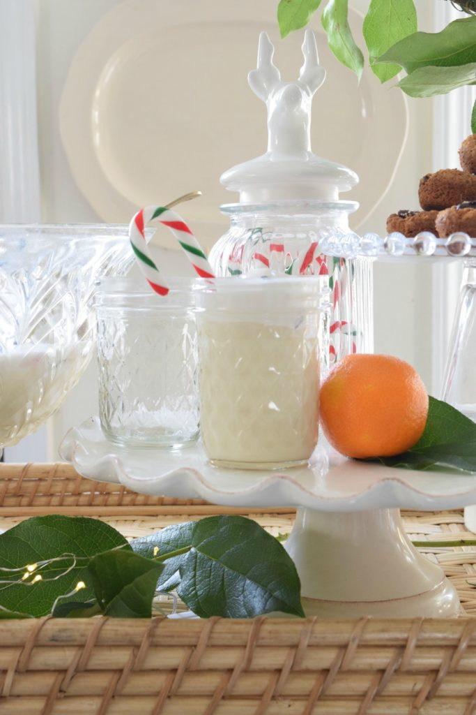 Holiday Drink- Peppermint Egg Nog Punch