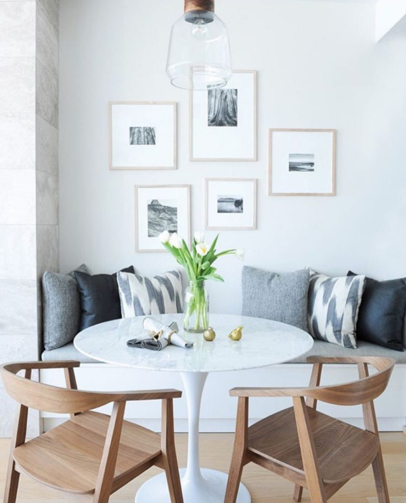 Banquette Seating- Kitchen Inspiration in a Small Space