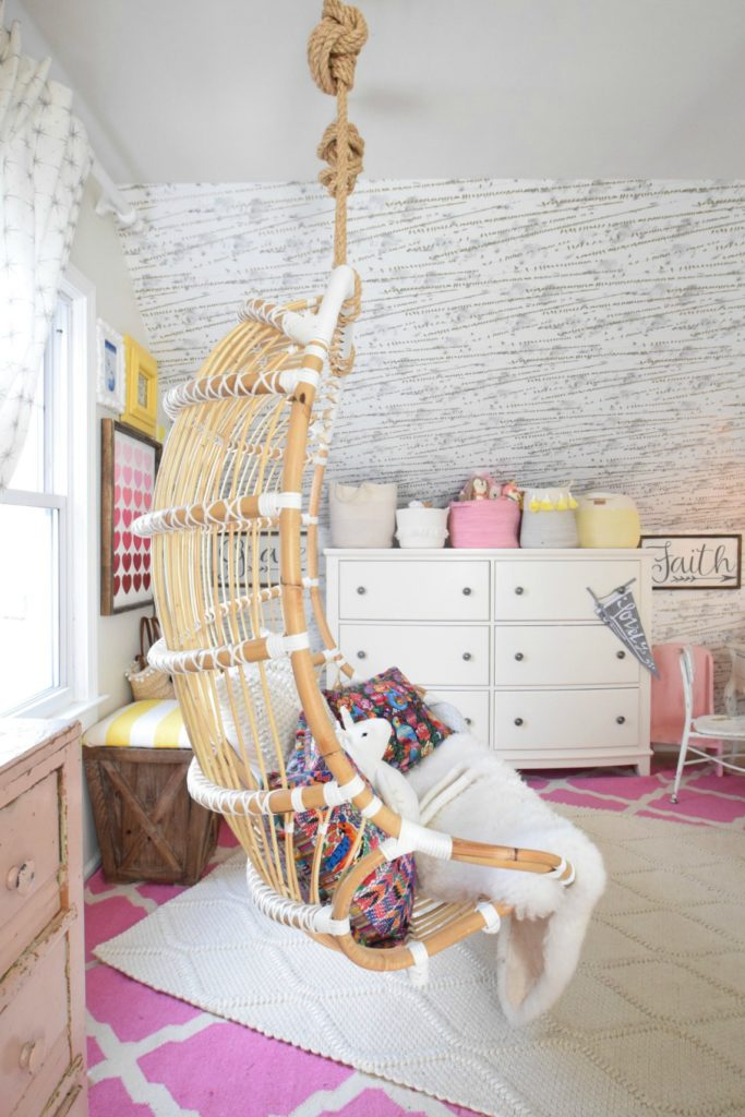 Love in the form of our new Hanging Chair - Nesting With Grace