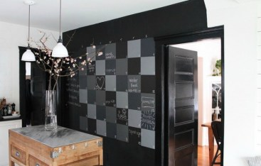 Friday Favorites- Checkboard Chalkboard Statement Wall