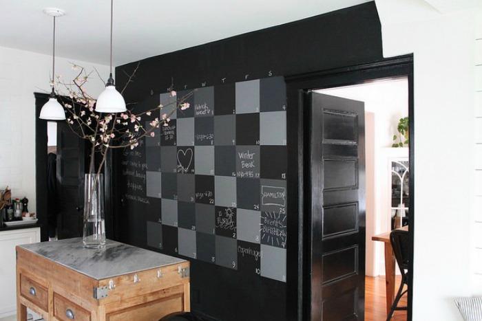 Friday Favorites- Checkboard Chalkboard Statement Wall