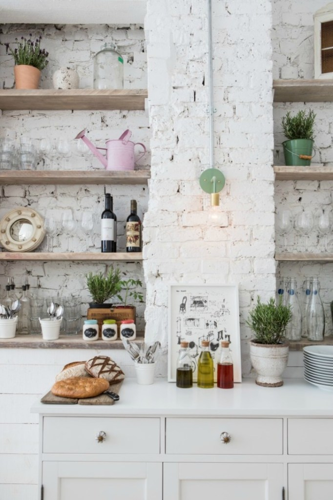Shiplap- Banquette Style Seating in the Kitchen