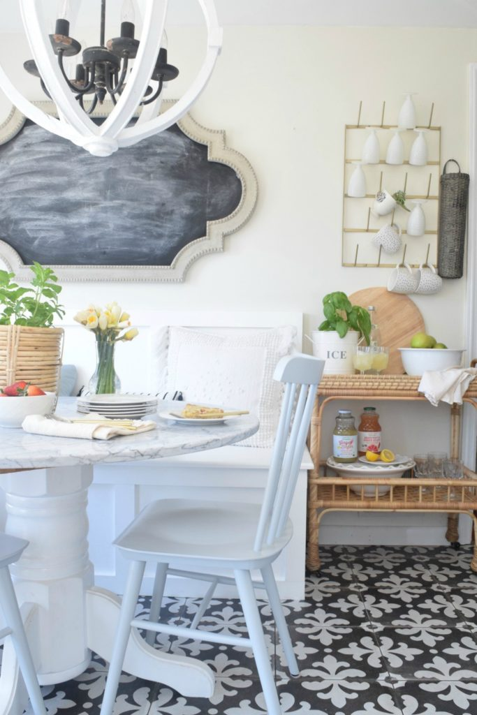 Built-in Kitchen Banquette Reveal - Nesting With Grace