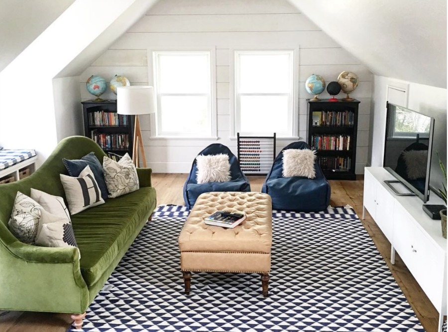 Home Tour- Eclectic Family Room and Gorgeous White Kitchen