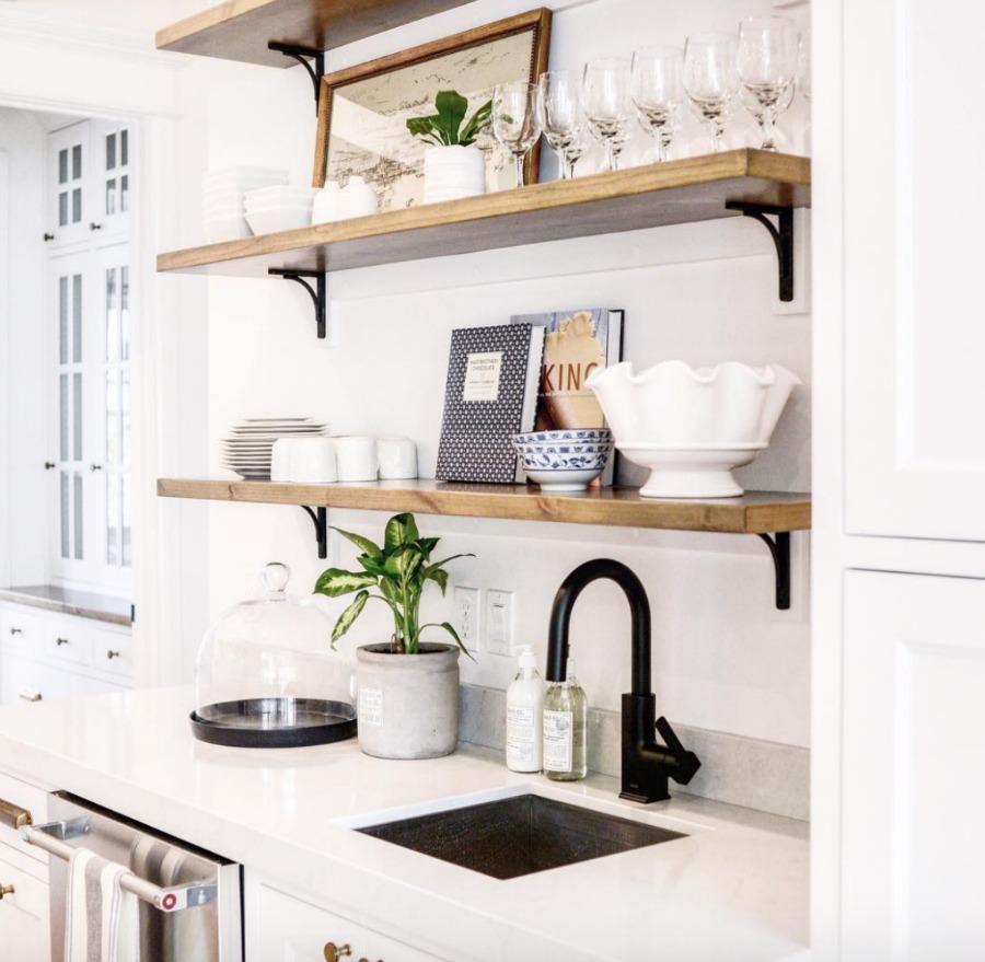 Home Tour- Open Shelves and Gorgeous White Kitchen