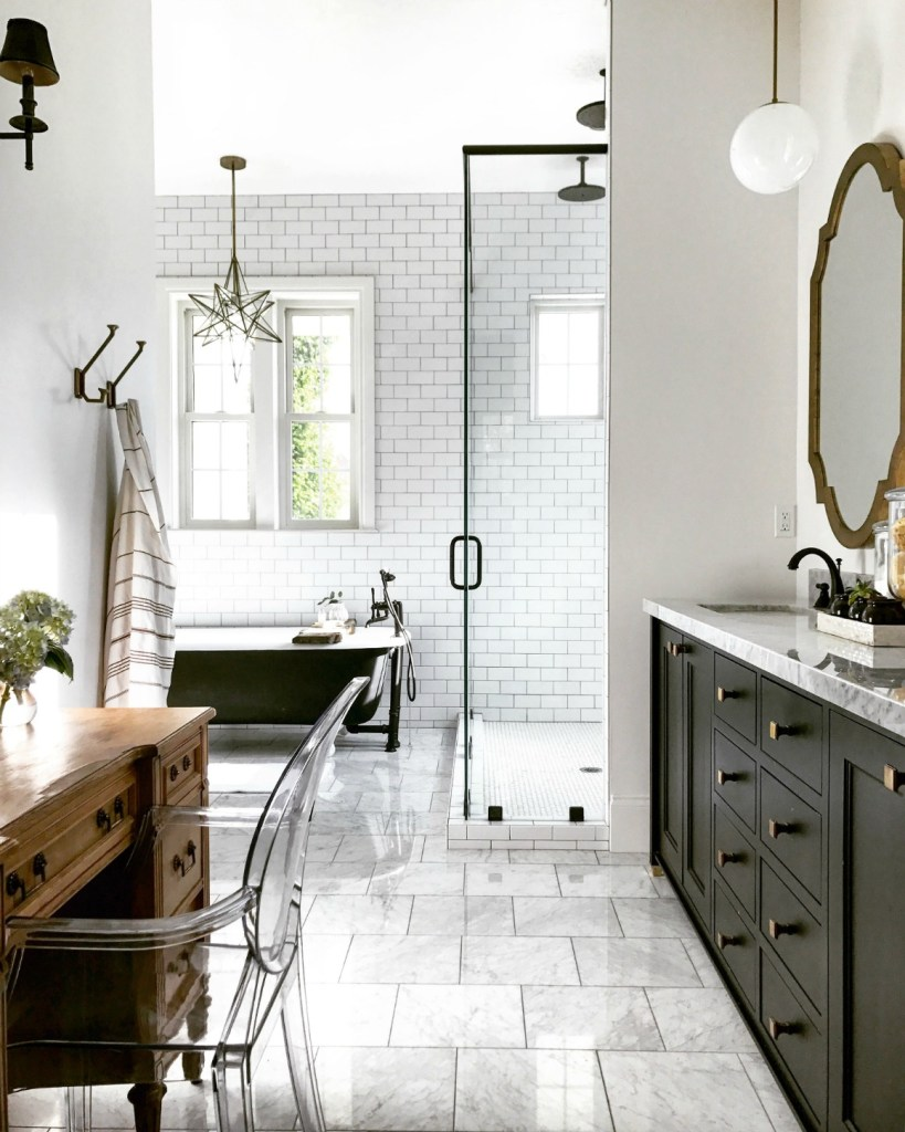 Master Bathroom- Mixing New with the Old