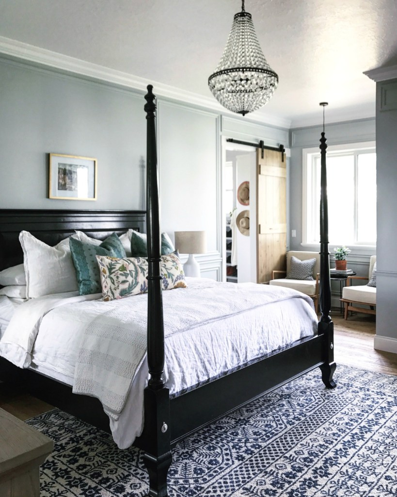 master bedroom and bath tour mixing old and new  nesting