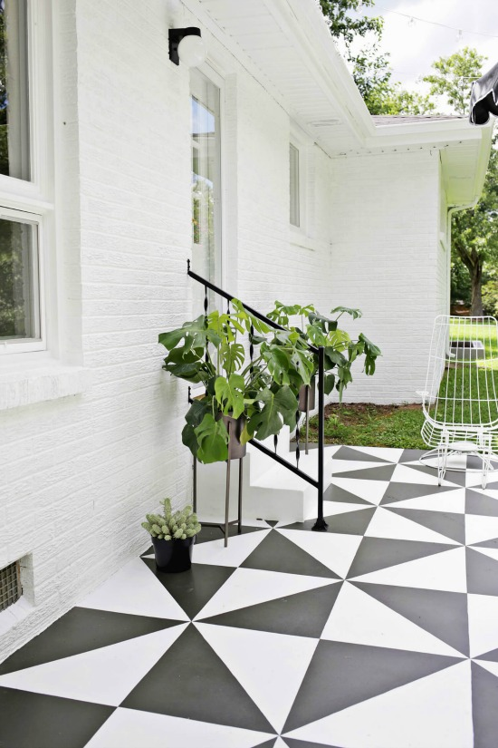Beau Favorite Painted Cement Ideas  And DIY Cementing Painting Tips