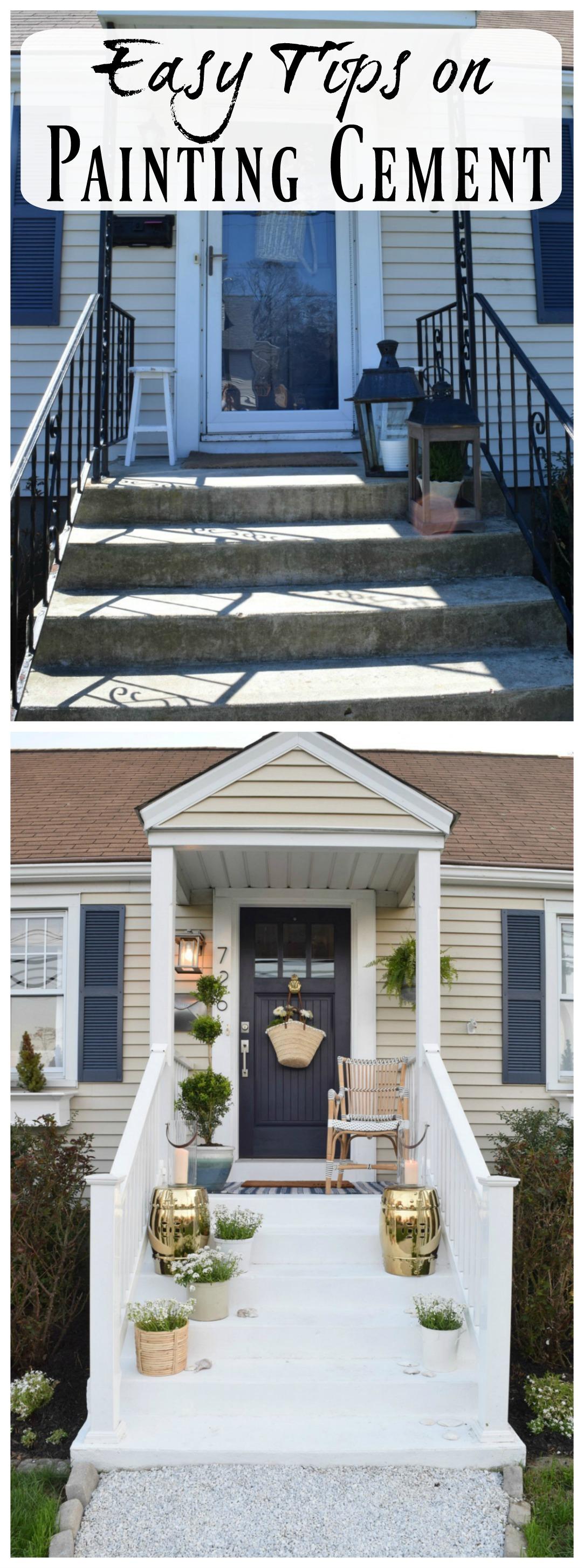 Painted Cement Steps and Top Favorite Painted Patios ... on Diy Concrete Patio Ideas id=14099