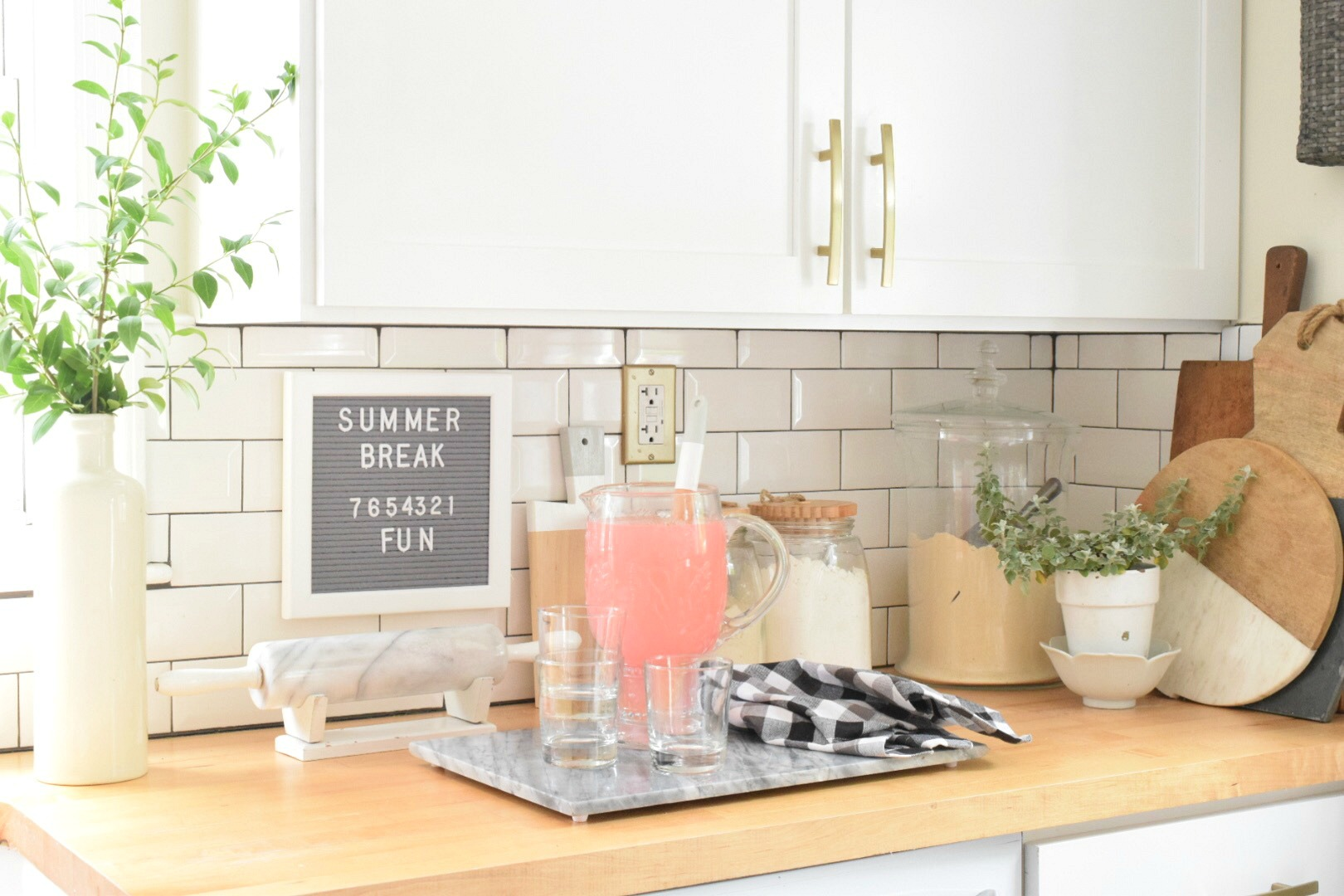 fun home decor ideas. Summer Home Decor in the Kitchen Ideas  Our Tour 2017 Nesting With Grace