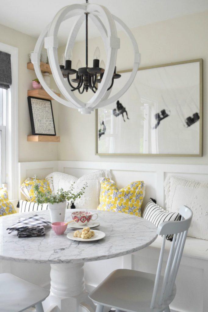 Summer Home Tour- Bright White Kitchen for Summer