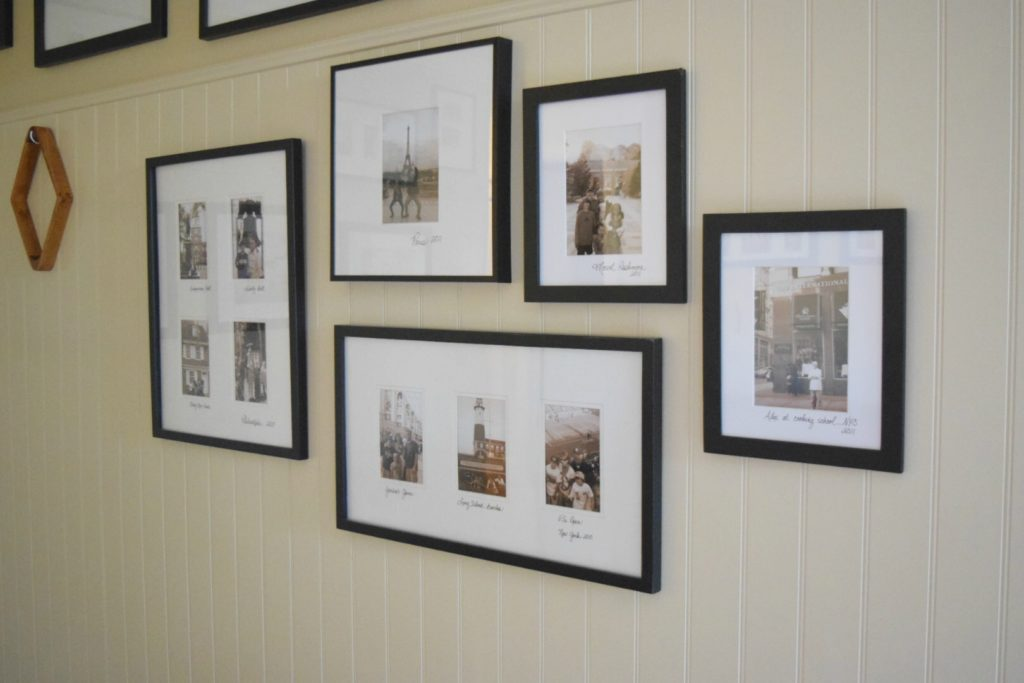 Gallery Wall Idea- Write the Name of where the picture was taken on the mat