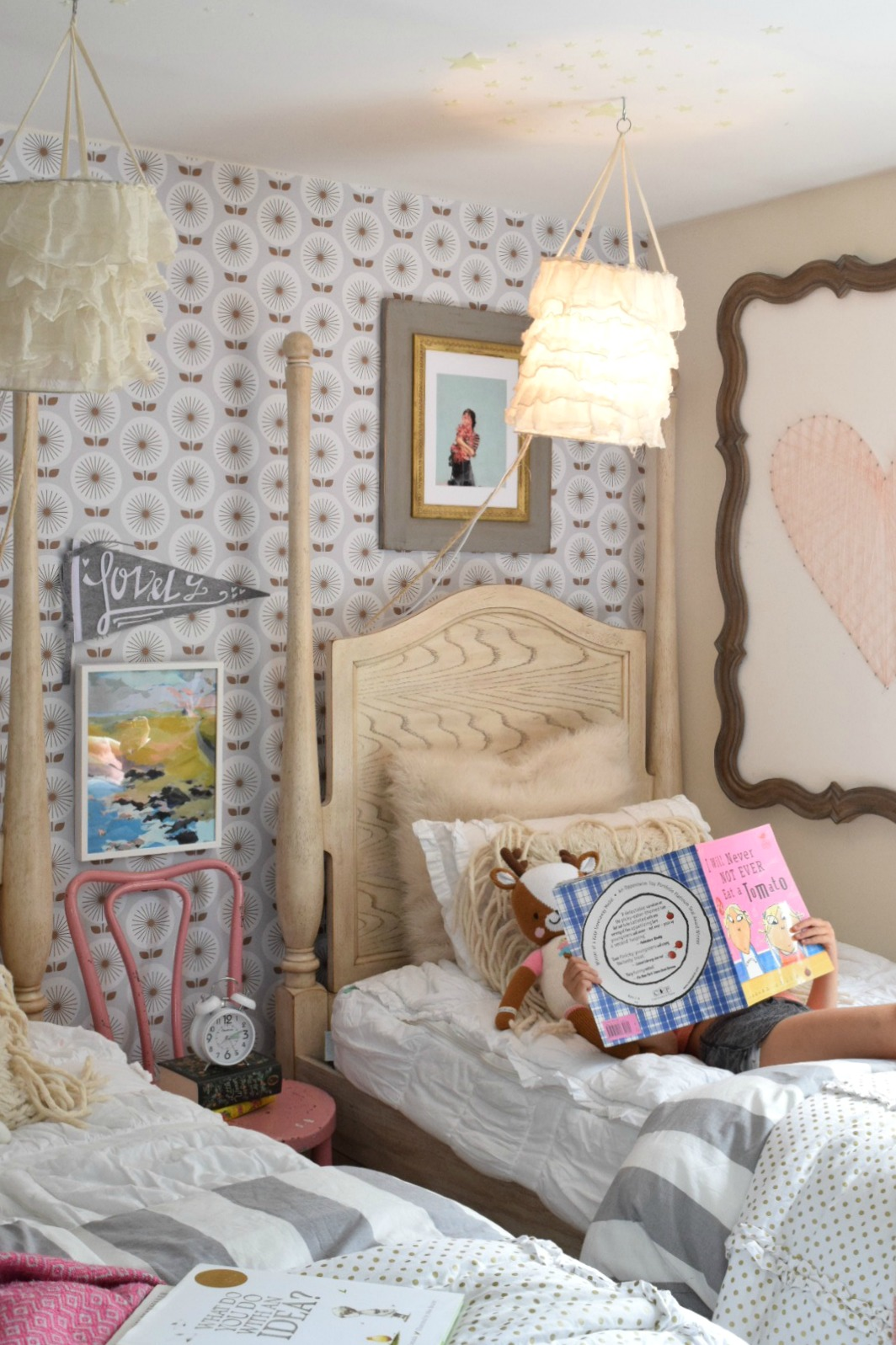 Picture of: Girls Bedroom Changes And Twin Beds And Bunkbed Options Nesting With Grace