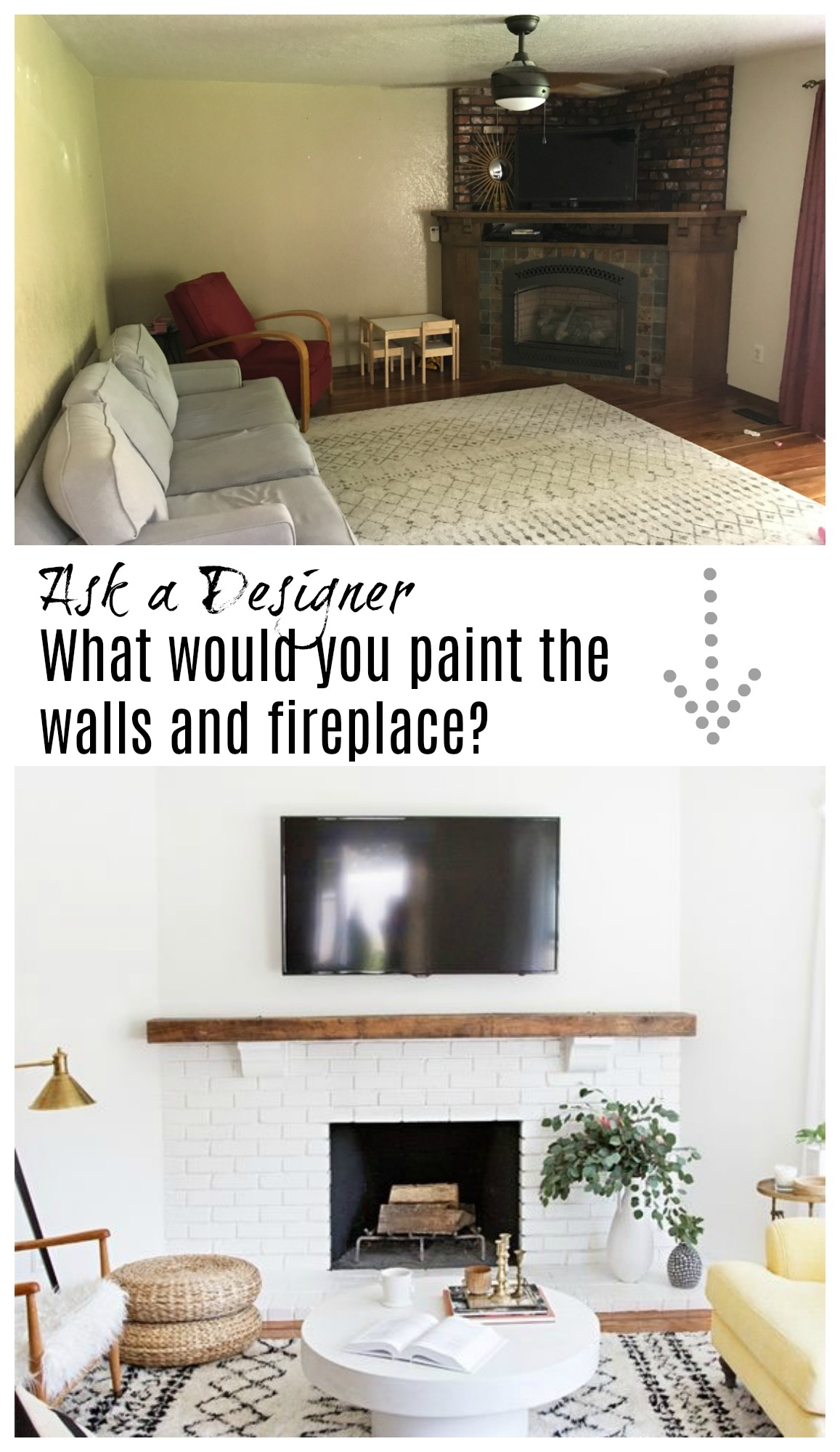 Ask a Designer- Help! What would you paint the walls and fireplace?