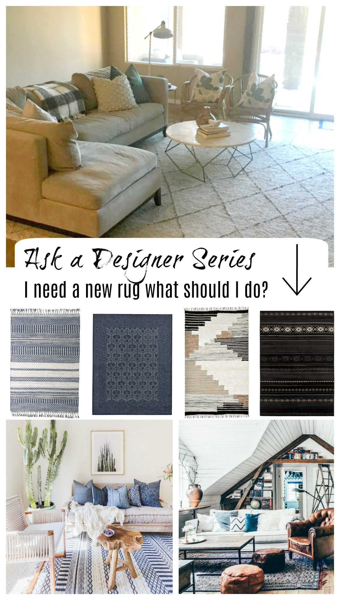 Ask a Designer- What Rug should I do in here?