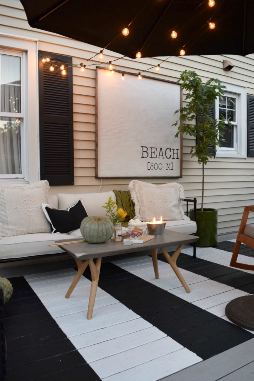 furniture deck. Outdoor Patio Space- Painted Stripe Deck And Maximizing Small Backyard Furniture C