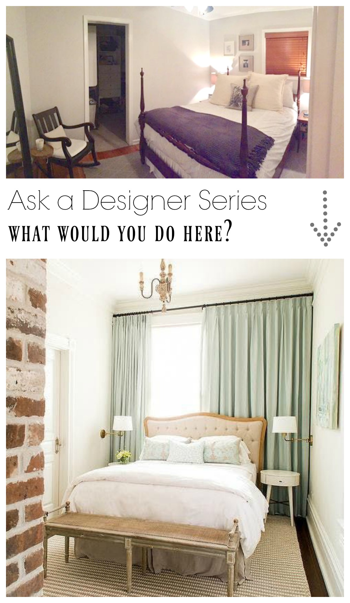 Ask a Designer Series- What would you do with this small bedroom?
