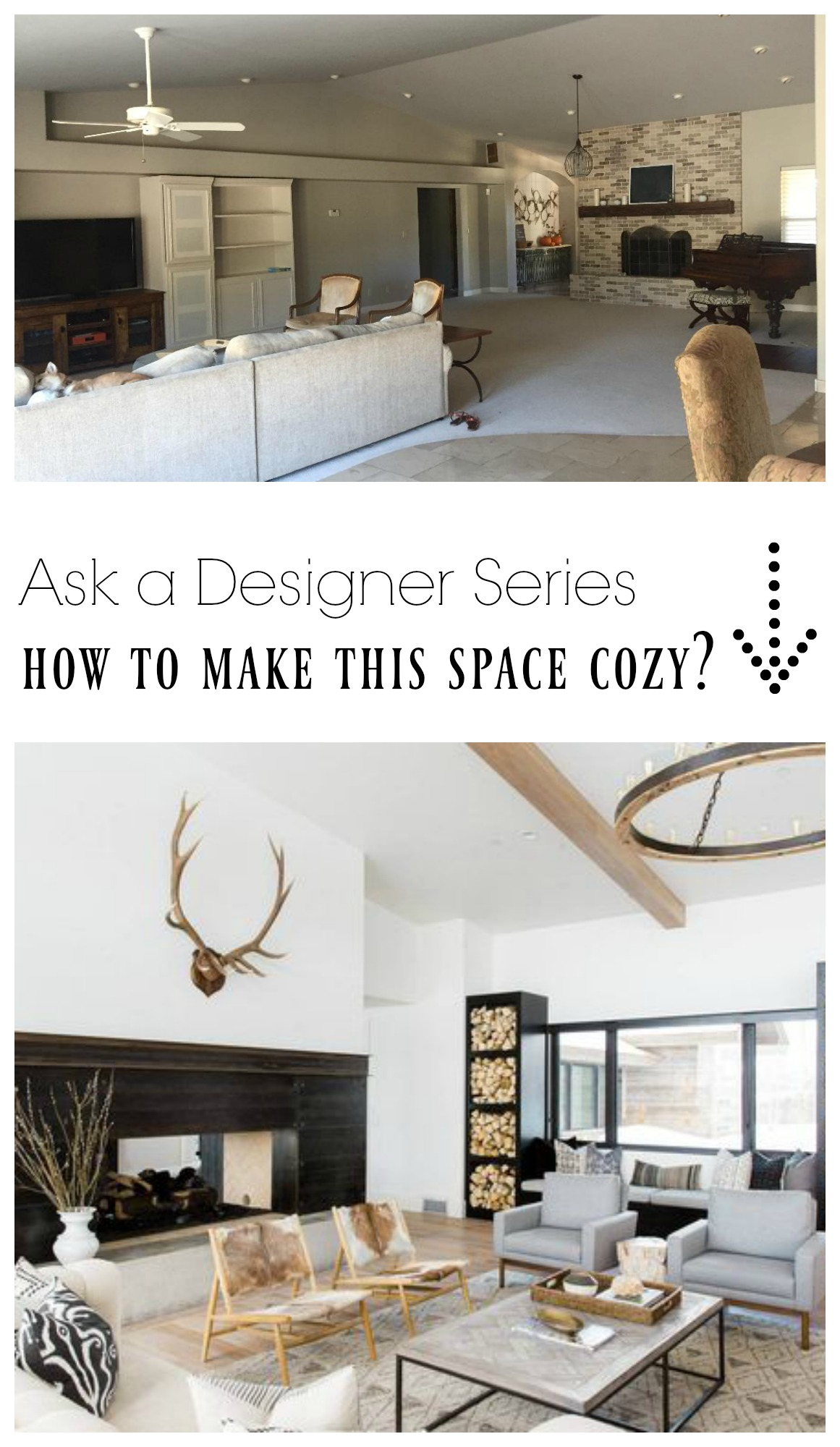 Ask a Designer Series- How do I make this Large open space cozy?