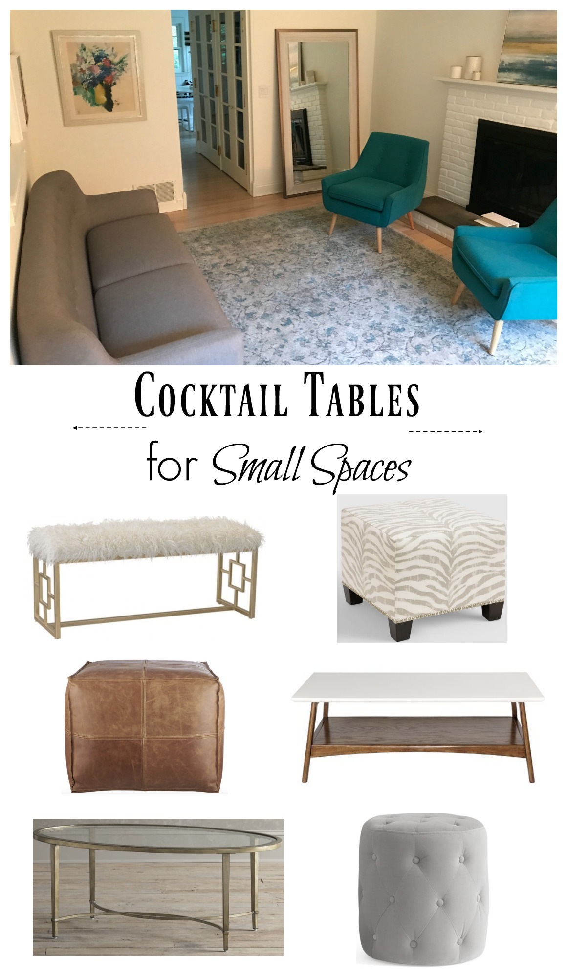 Cocktail Table Ideas for Small Spaces