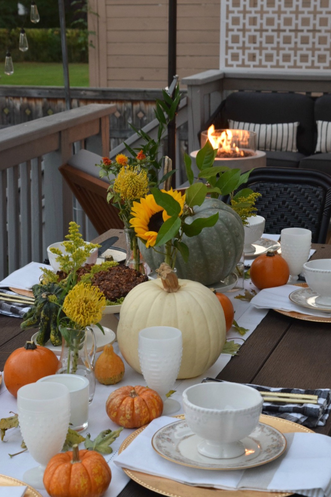Fall Table Setting- Simple Using What You Have