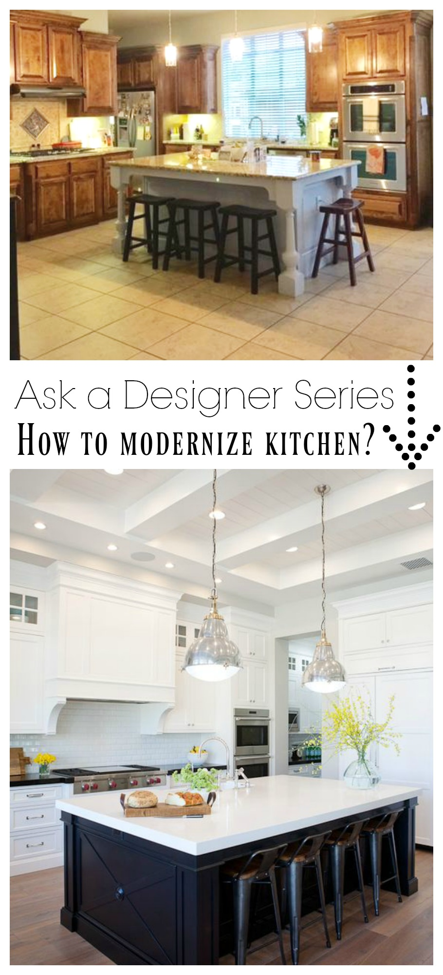 Ask a Designer Series- How to Modernize Dated Kitchen