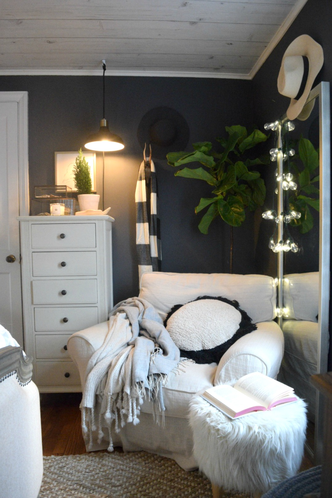 Christmas Bedroom- Simple Winter Touches - Nesting With Grace