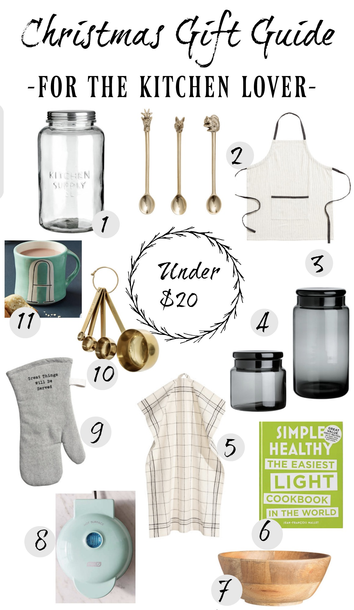 Christmas Gift Guide- For the Kitchen Lover